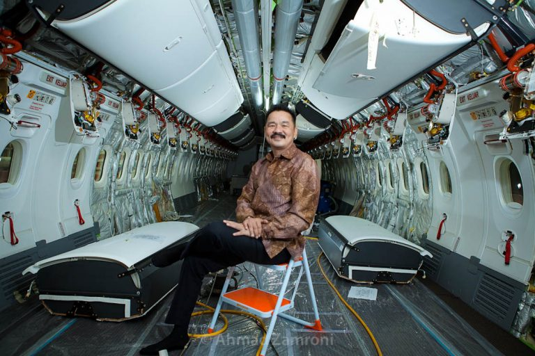 Lion Air chief executive officer (CEO) Rusdi Kirana poses for a portrait at  a maintenance, repair and overhaul (MRO) facility ,Hang Nadim International Airport, Batam. The new MRO centre, to be called Batam Aero Technic, will handle heavy maintenance for Lion Group airlines, as well as heavy checks for third-party customers. Photo by Ahmad Zamroni